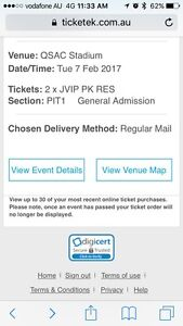 Price reduced! Guns n Roses VIP pit  Welcome to the Jungle Tickets x2 Upper Caboolture Caboolture Area Preview