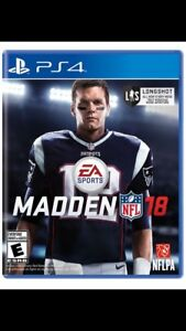 PS4 Madden NFL 18 Like New
