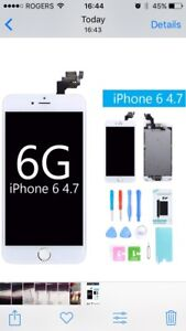 Wanted Besoin iPhone 6 glass screen replacement white prefered