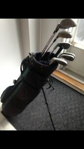 RH Golf Clubs with standing bag