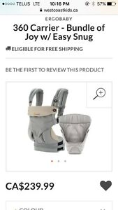 Ergo baby 360 carrier & infant insert