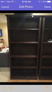 2 IKEA wood bookshelves