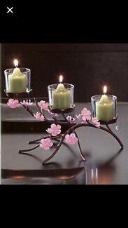 Partylite cherry blossom set $65