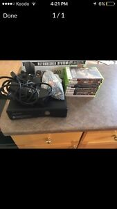 Xbox 360 + controller and 6 games