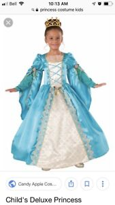 Kids deluxe princess costume, size 4-5