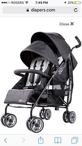3D two double stroller