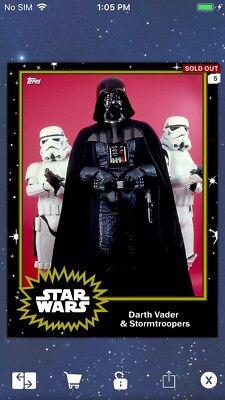 Topps Star Wars Digital Card Trader ? Darth Vader S4 Base Variant Insert
