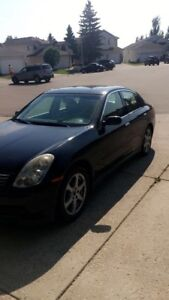 G35x AWD, winter tires and rims included