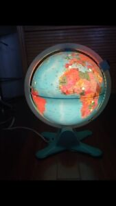 Vintage Fisher Price Light Up Globe