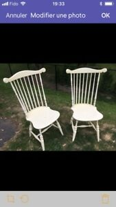 Chaises antiques lot de 6
