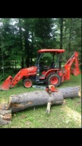 FOR HIRE Compact Tractor with backhoe and bush hog