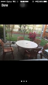Outdoor furniture table and chairs built in esky Father's Day gift Maroochydore Maroochydore Area Preview
