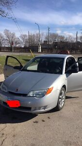 2004 Silver Saturn Ion Quad Coupe SAFETIED