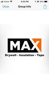 Drywall, insulation and tape