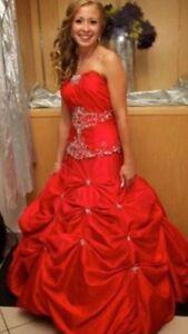 Red wedding/grad dress 350$ obo