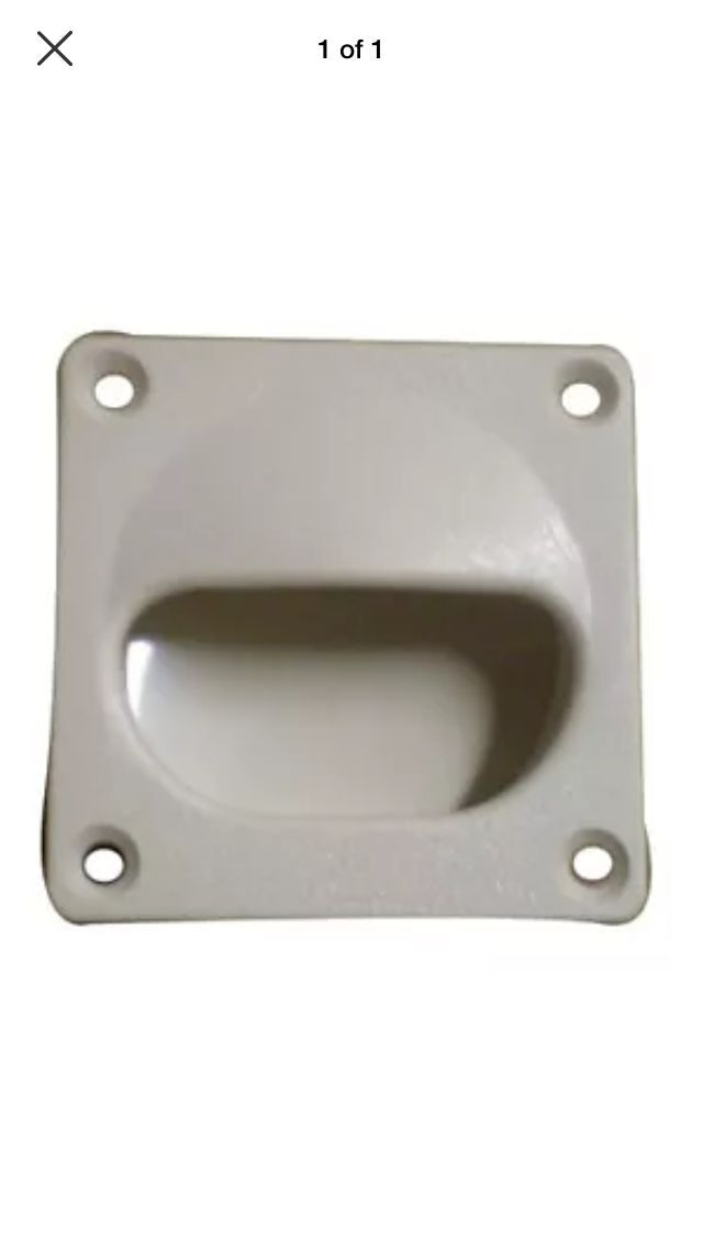 White Flush Mount Drawer Pull #81390-W  Molded in Textured ABS Plastic