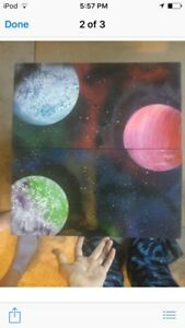I will spray paint a galaxy for you.