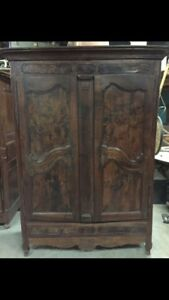 Need closet space?  19th Century French Walnut Armoire