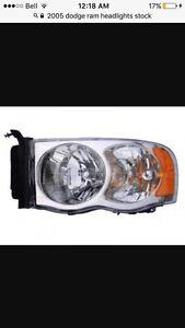 Stock headlights for a 2002-2005 Dodge Ram (pair)