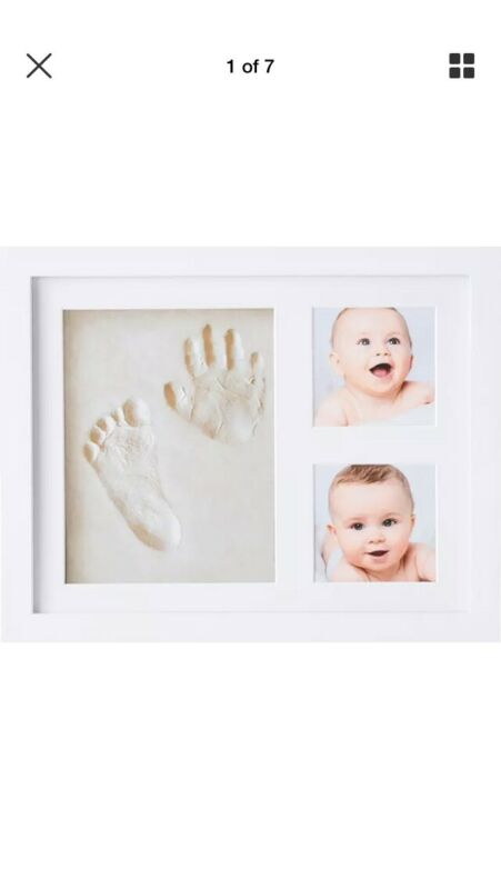 Baby Hand & Foot Print Clay Imprint Frame and Pictures Kit Keepsake Memories