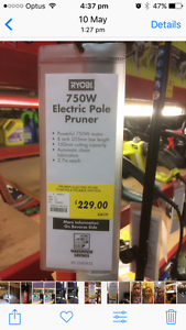 POLE CHAINSAW PRUNER   ELECTRIC    RYOBI Plympton Park Marion Area Preview