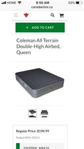 Brand New Coleman self inflating air bed