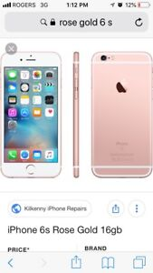 iPhone 6s  64 GB Rogers plan