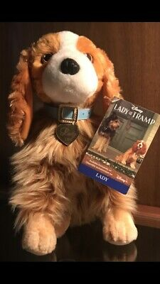 Disney Lady Plush 11'' Lady and the Tramp Live Action Movie *Brand New