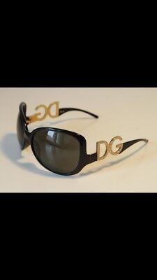 Orginal Dolce & Gabbana Sonnenbrille D&G schwarz gold Strass