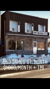 Excellent location commercial unit for lease James st N