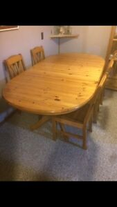 IKEA Solid Pine Dining Set