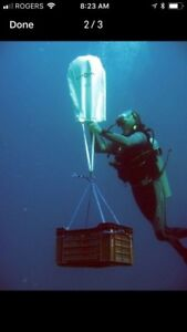 Underwater recovery diver
