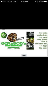 GER&SONS tree service locally owned and operated !