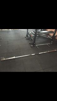 Olympic barbell w/ spring clamps East Maitland Maitland Area Preview