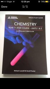 Yr 11 ATAR Chemistry North Beach Stirling Area Preview