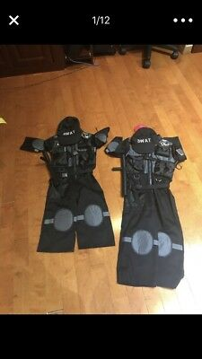 SWAT Team Halloween Costume/Dress Up Outfit/ Role Play Size 3-4 Or 5-6](Swat Team Outfit Halloween)