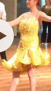 Bright yellow sparkly Latin ballroom dress Newcastle Newcastle Area Preview