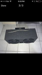 "1000w autotek amp with 10"" pioneer and 10"" premier Speaker"