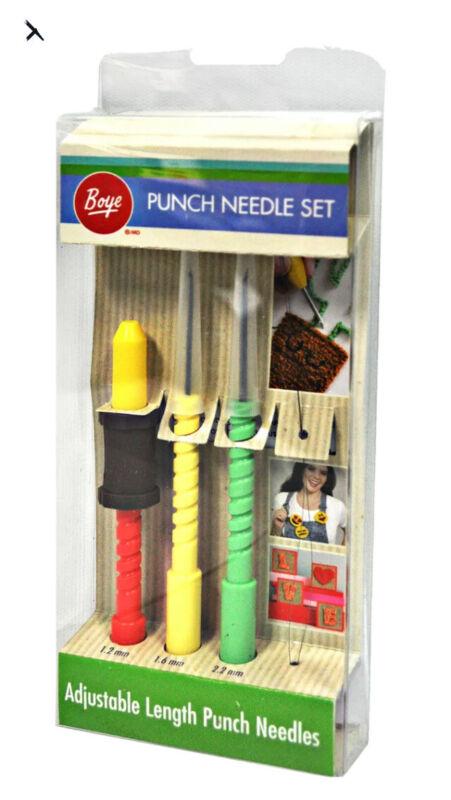 Boye Punch Fun 3 Size Punch Needle Set
