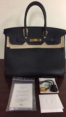 dee64a3181d9 AUTHENTIC HERMES BIRKIN 35cm BLACK TOGO LEATHER GOLD HARDWARE HANDBAG BAG