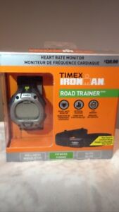Training watch with heart rate monitor chest strap for sale