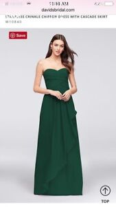 Dark Green Bridesmaid or Prom Dress