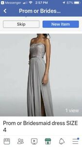 Prom or Bridesmaid Dress Size 4 Small