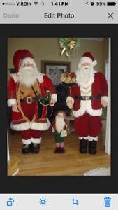 6 ft. Life Size Deluxe Santa Claus w/Burlap Sack of toys