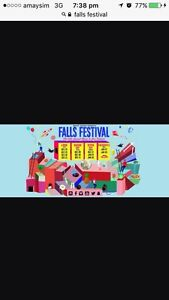 2 x Byron bay falls festival tickets 3 days Currumbin Valley Gold Coast South Preview