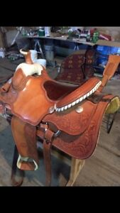 Billy Cook roping saddle 15 1/2 inch