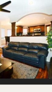 Horizons by Palliser Couch in Black Leather set