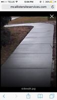 Sidewalk, patio, drive ways get all new for this summer!