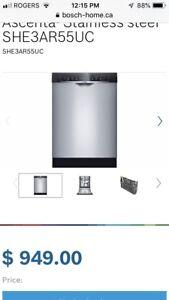 Bosch Ascenta Stainless Steel Dishwasher - like New
