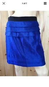 Cue electric blue skirt a-line skirt Size 10 Bankstown Bankstown Area Preview